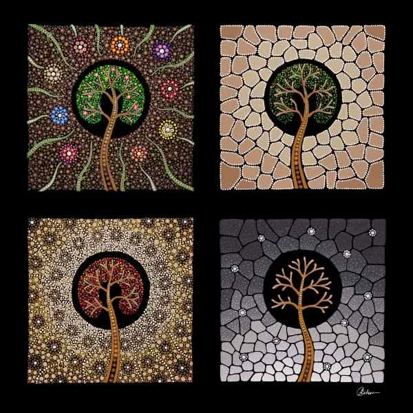 Tree of Life Seasons | Copyright | Leah Brideson
