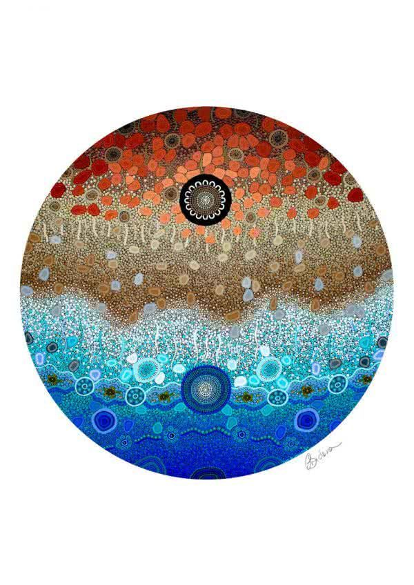 Ocean Edge | Copyright Leah Brideson | Acrylic on wooden board 2018