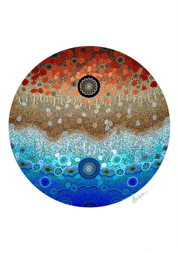 Ocean Edge   Copyright Leah Brideson   Acrylic on wooden board 2018