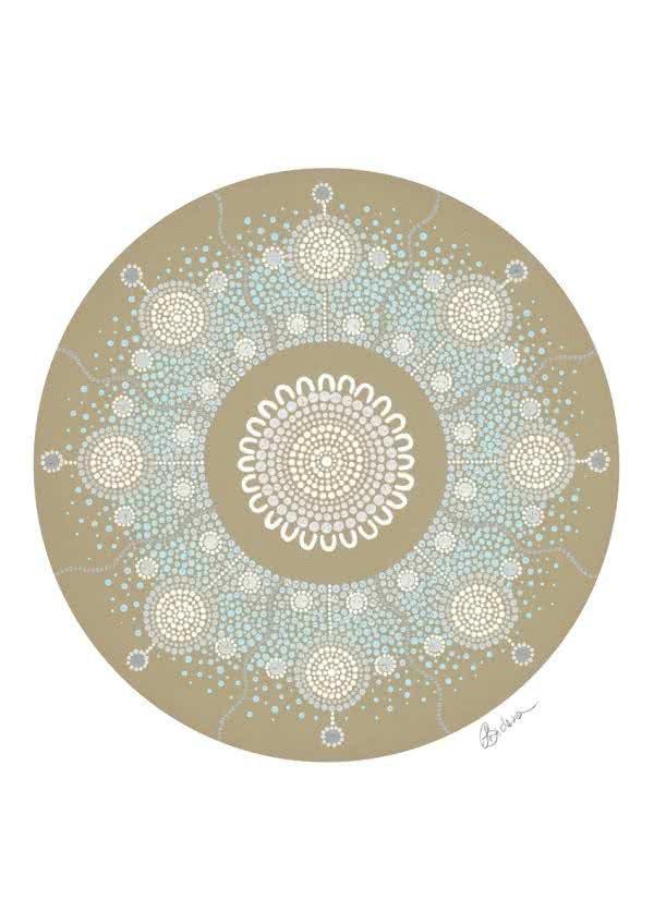 Snowflake | Copyright Leah Brideson | Acrylic on canvas 2019