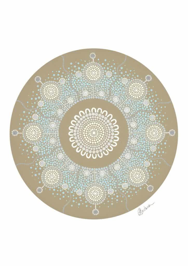 Snowflake   Copyright Leah Brideson   Acrylic on canvas 2019