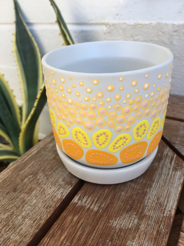 Leah Brideson | Copyright | Starry Night Dreaming on Country - Yellow and Pink Small