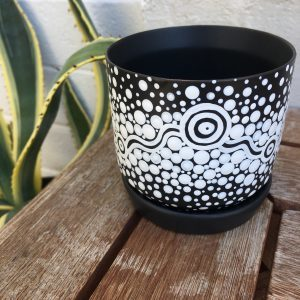 Leah Brideson | Copyright | Hand Painted Pot